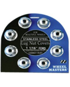 """Wheel Masters 8011 1-1/16"""" Stainless Steel Lug Nut Cover - Pack of 8"""
