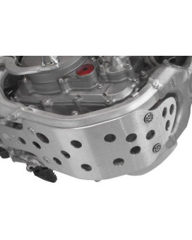 Works Connection 10-276 Silver Motocross MX Dirt Bike Skid Plate