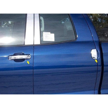 QAA FITS TUNDRA 2007-2018 TOYOTA (6 Pc: ABS Plastic Door Handle Cover Kit w/pass key access, 4-door, DOUBLE CAB) DH27147