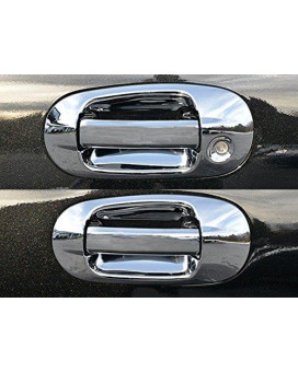 QAA FITS EXPEDITION 2003-2017 FORD & NAVIGATOR 2003-2017 LINCOLN (8 Pc: ABS Plastic Door Handle Cover Kit NO pass key access, 4-door, SUV) DH43655