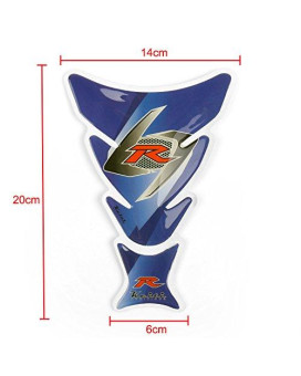Areyourshop Motorcycle Oil Tank Protector Pad R For Suzuki GSXR 600 750 1000 1300 Blue