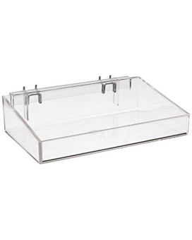 "Azar Displays 556085 12"" Open Tray (2 Pack)"