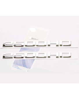 Yoaoo?? 2pcs OEM Chrome 2500HD 2500 HD Nameplates Emblems Alloy Badges for Gm Silverado Sierra