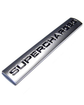 zorratin Metal Supercharged Lettering Tailgate Boot Lid Emblem Badge for Range Rover Sport L322 vogue