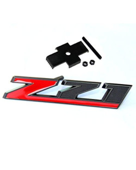 Yoaoo?? OEM Matt Black Red Grille Z71 Emblem Badge for GMC Chevy Silverado 1500 2500HD Sierra Tahoe Suburban 3D