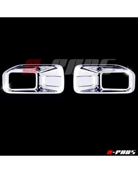 A-PADS Chrome FRONT Fog Lamp Covers for Ford F150 2015 2016 - Lower Lights Bottom