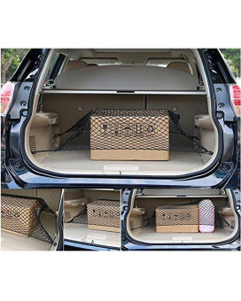 Weigesi Car Trunk Elastic Cargo Net for Nissan Rogue 2014-2018 Floor Trunk Cargo Net