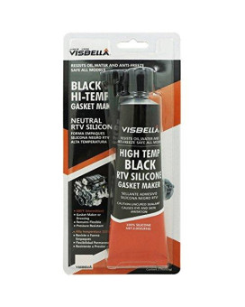 Visbella Neutral RTV 100% Gasket Maker Oil and Water Resistance Anti-Freeze Remain Flexible Ultra 3 oz. High Temperature 600°F Sealant Tube