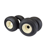 Antego Tire & Wheel 18x8.50-8 with 8x7 Tan Wheel Assembly for Golf Cart and Lawn Mower (Set of 4)