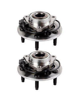 SCITOO Both(2) 515073 New Complete Front Wheel Hub and Bearing fit 2002-2006 Dodge RAM 1500 5 Lugs W/ABS