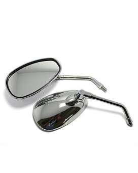 481ecd5c87 OKSTNO Motorcycle Chrome Rearview Side Mirrors For Kawasaki Suzuki Chopper  Scooter 10mm