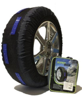 SCC S54 SuperSox Tire Traction with Reinforced Studded Urethane Pads, Set of 2