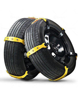 Zone Tech Car Snow Chains - Premium Quality Strong Durable All Season Anti-Skid Car, Suv, And Pick Up Tire Chains For Emergencies And Road Trip