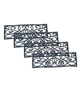 Rubber Scrollwork Stair Tread 4 Pack