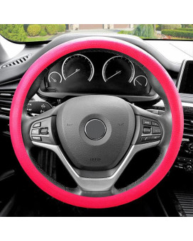Silicone Steering Wheel Cover - Magenta