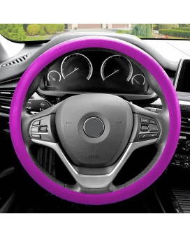 Silicone Steering Wheel Cover - Violet