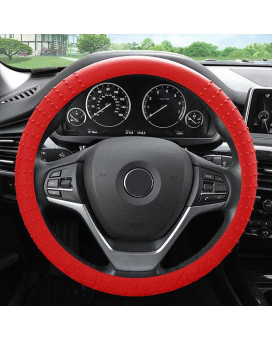 Silicone Steering Wheel Cover - Red